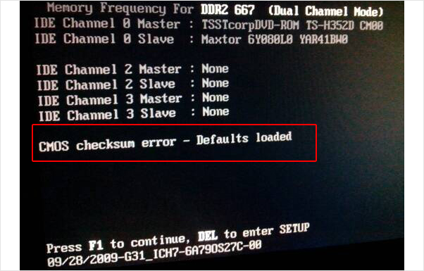 Cmos Checksum Error Defaults Loaded
